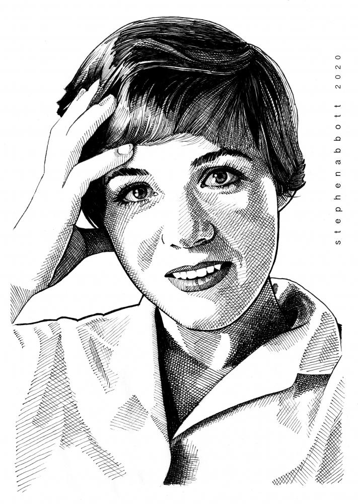 Julie Andrews by Stefanosart